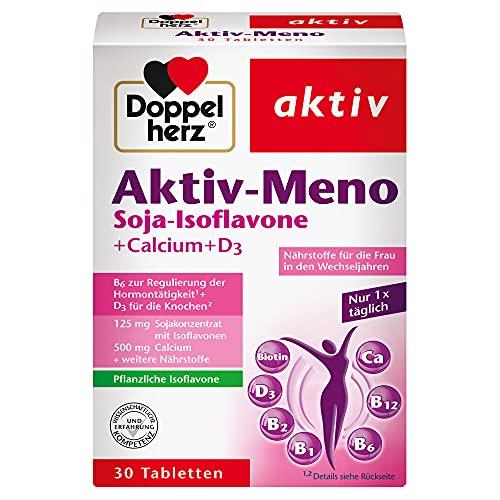 Doppelherz Aktiv-Meno – Mit Soja-Isoflavonen, Calcium und Vitamin D3 – 1 x 30 Tabletten