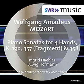 Mozart: Sonatas for Piano 4 Hands, K. 19d, 357 & 358