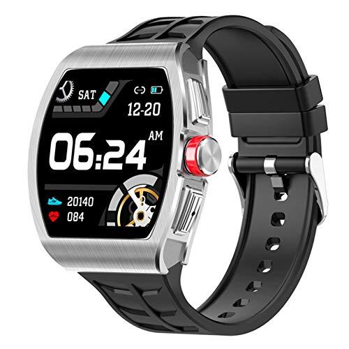 APCHY Smartwatch Reloj Inteligente De Hombres,Rastreador De Fitness De Presión Arterial Monitoreo De Frecuencia Cardíaca Impermeable Deportes Bluetooth Llamada Pulsera,A