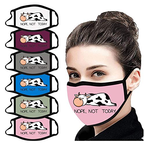 LWWOG 6PC Washable And Reusable Mouth Face Warm Windproof Face facecovering