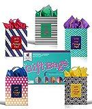 24 Bolsas de Regalo Blancas y Papel de Seda de Purple Ladybug - Bolsitas Kraft Originales 19x24x12 cm para Personalizar y Envolver Regalos, Envoltorio para Fiestas de Cumpleaños, Navidad y más