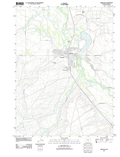 2012 Saratoga, WY - Wyoming - USGS Historical Topographic Map : 33in x 44in