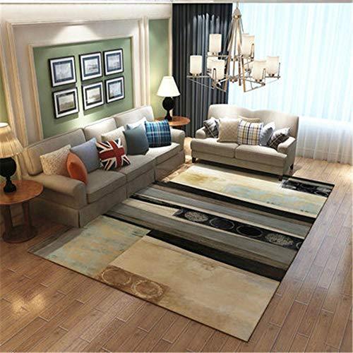 RUGMYW Suave Y Confortable alfombras de habitacion pequeñas Barro marrón Beige Gris Amarillo Azul Doodle alfombras Salon Clasicas 160X200cm