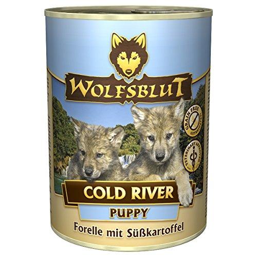Wolfsblut | Cold River Puppy | 6 x 395 g | Forelle | Nassfutter | Hundefutter | Getreidefrei
