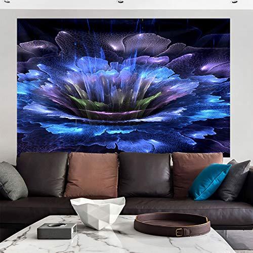 Tapiz de flores oscuras para colgar en la pared, tapiz de ropa de cama, pintura al óleo, manta de playa de picnic para dormitorio, sala de estar, Decor de pared 150x130 cm