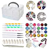 AIFAIFA 69PCS DIY Nail Art Tools Decoration Manicure Kit, Glitter Nail Rhinestones, Nail S...