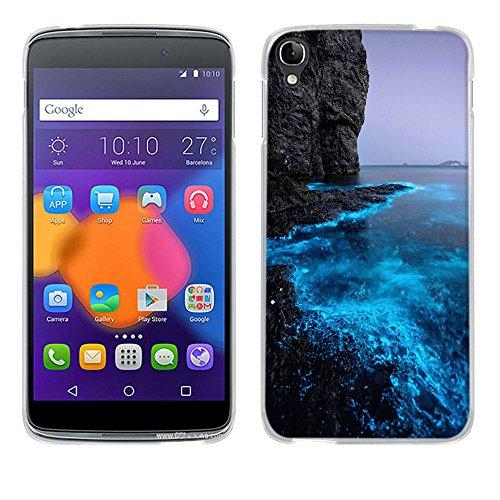 FUBAODA for für Alcatel One Touch Idol 3(5.5 inch) Hülle Case, [Fluoreszierende Küste] Ultra Dünn Handyhülle Premium-TPU Durchsichtige Schutzhülle BackSlimfür Alcatel One Touch Idol 3(5.5 inch)