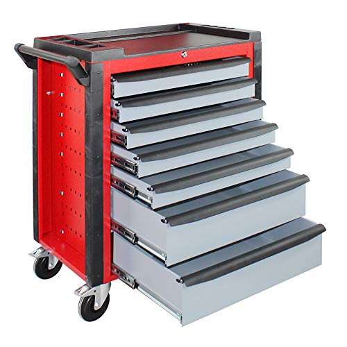 Werkstattwagen Werkzeugwagen Werkzeug Rollwagen Werkzeugkiste 'Red Devil' 5x60