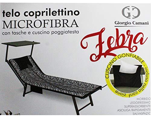 Russo Tessuti Telo Microfibra Camani Coprilettino con Tasche Mare con Cuscino Gonfiabile-Variante 2