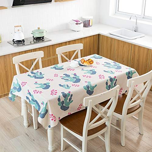 XXDD Cactus Banana piña Mantel de Lino Decorativo Impermeable Grueso Rectangular Boda Mesa de Comedor Cubierta té Mantel A9 135x180cm