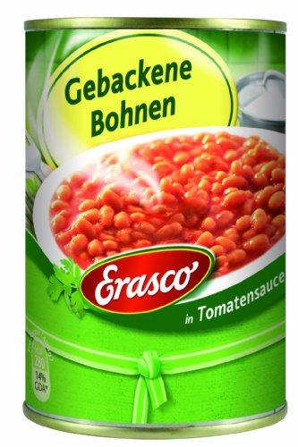Erasco Gebackene Bohnen in Tomatensauce, 3er Pack (3 x 400 g)