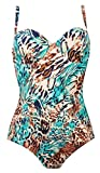Naturana Underwired Swimsuit 73072 Blue Animal Print 38D