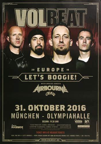 Volbeat - Let`s Boogie, München 2016 » Konzertplakat/Premium Poster | Live Konzert Veranstaltung | DIN A1 «