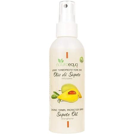 NATURAEQUA - Spray Termoprotettore per Capelli con Olio di Sapotè - Formula Leggera - Protegge dal calore dello Styling - Km Vero - 150 ml