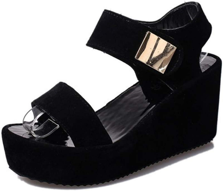 MEIZOKEN Women Platform Wedege Sandals Lady Summer Fashion Metal Decor Casual Slingback Open Toe shoes