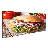 bilderfelix® Bild auf Leinwand Appetitanregendes Sandwich: