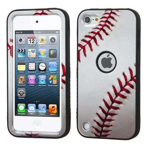 Wydan Compatible Case for iPod Touch 7th 6th 5th Heavy Duty High Impact Armor Cover Protective Case for iPod Touch 5 6 7 Generation Baseball for Apple