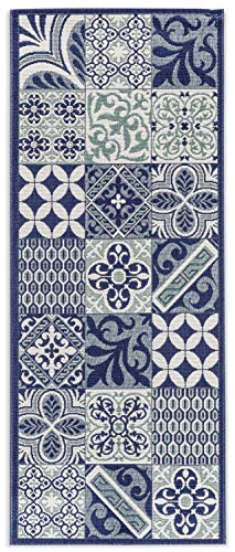 In- und Outdoor-Teppich Classical Patterns Blue 80 x 200 cm Kunststoff für Innen und Außen