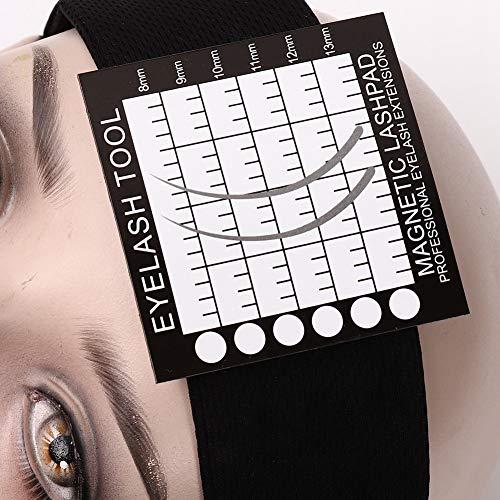 Almofada magnética portátil para cílios, fita magnética para a cabeça, uso geral ajustável para enxerto de cílios para uso profissional