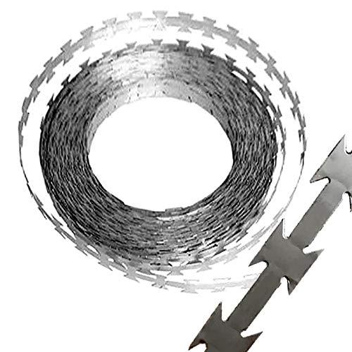 [究極の有刺鉄線] メッキ製 カミソリワイヤー 100m 防犯 防獣 侵入防止 農業被害対策にも (ステンレスではありません)