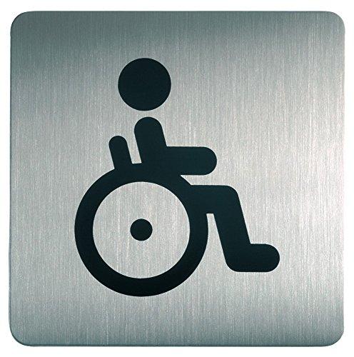Durable 495923 Piktogramm WC Behindert (quadratisch, 150 x 150 mm) Edelstahl