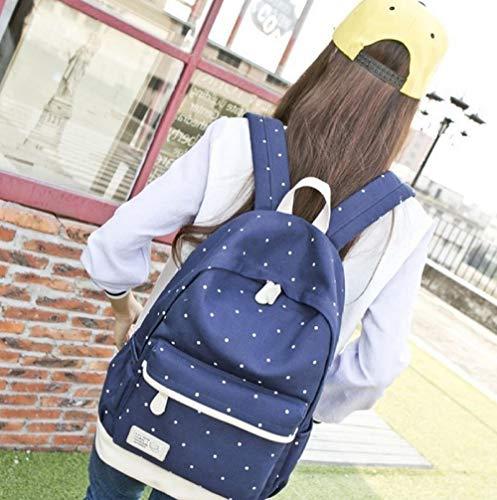 ZWHBB vrouwen rugzak canvas rugzak handtassen vrije tijd reistas middelbare school junior middelbare school studenten wave point tas