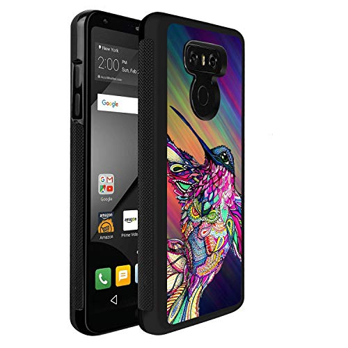 LG G6 Case Watercolor Hummingbird PC and TPU Shockproof Slim Anti-Scratch Protective Dual Layer Rugged Case Non-Slip Grip Case for LG G6