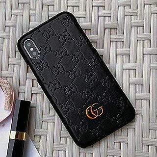 iPhone X Case, Black Premium PU Luxury Stylish Designer Fashion Leather Cover Case for iPhone X (Black)