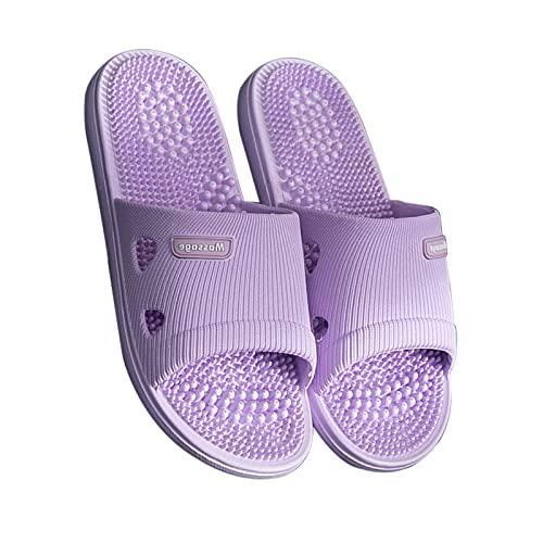 OFFA Pantuflas Pantuflas Zapatillas para Mujer, Zapatillas De Masaje para Hombres Sandalias De Reflexología con Soporte De Arco Zapatos De Punta Abierta Sandalia Cuarto De Baño Casa Secado Rápido