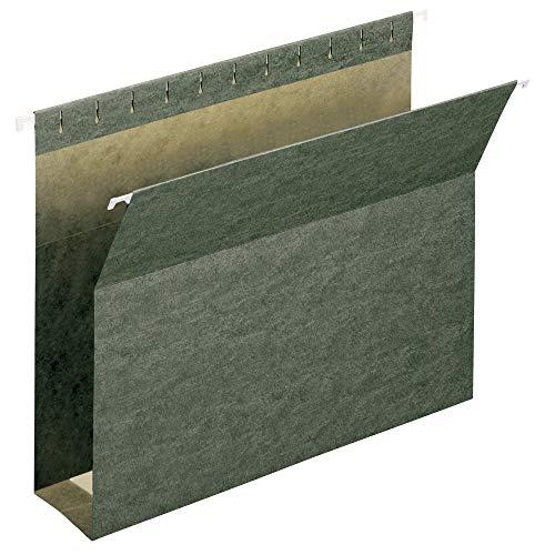 "Smead Box Bottom Hanging File Folder, 3"" Expansion, Letter Size, Standard Green, 25 per Box (64279)"