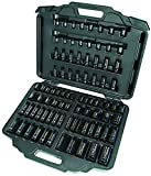 Ingersoll Rand SK34C86 3/8-Inch & 1/2-Inch 86 Piece Combo Standard & Deep Impact Socket Set