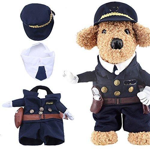 Yarssir - Costume da Poliziotto per Cani e Gatti