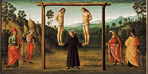 Berkin Arts Raffaello Sanzio Giclee Canvas Print Paintings Poster Reproduction(Two Christ) Large Size39 x 19.5 inches