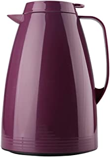 ZCXBHD 真空ポット、ガラスライナー家庭用高容量真空ポット寮の部屋のサーモスボトル1.5L (Color : Purple)