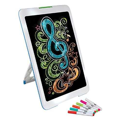 NEW! Neon Glowing Art Drawing Easel Set includes 6 Washable Markers (5 Different Bright LED Lights Modes)