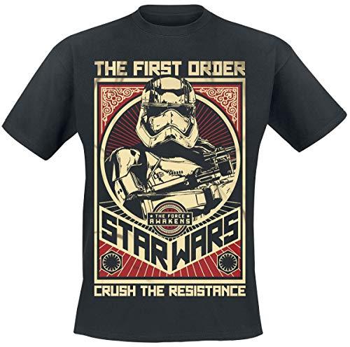 Star Wars Episode 7 - Das Erwachen der Macht - Crush The Resistance Stormtrooper T-Shirt schwarz L