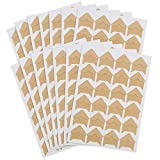 DERAYEE 12 Sheets Photo Corner Stickers, Self Adhesive Photo Mounting Corners for Scrapbooking Photo Album Diary DIY Craft Paper