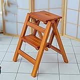 LZY Escabeau Pliage Multi-Fonctions Chaise Ladder Escabeau Grimper Une Échelle Escabeau/Bois Couleur/Two floors
