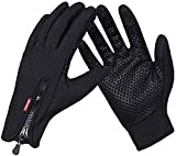 Cotop Outdoor Windproof Work Cycling Hunting Climbing Sport Smartphone Touchscreen Gloves for Gardening, Builders, Mechanic (Black, L)