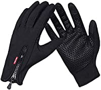 Finger Part sets new updated Metallic Electric Touch Screen Mesh and durable can not fade. Palm part with silicone cross Strigulas, non-slip. Back of the hand is wind and breathable. Wrist part made of soft fabric, comfortable and flexible. Zipper ca...