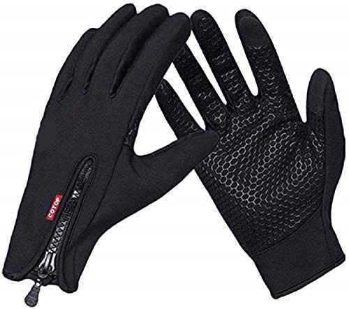 COTOP Cycling Gloves for Men and Women, Winter Bike Gloves with Touchscreen, Anti-Slip Outdoor Bicycle Full Finger Warm Gloves in Cold Weather for Running, Riding, Shooting, Driving, Climbing(XL)