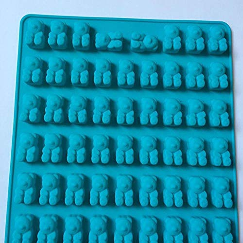 20/53 Cavità Silicone Verme gommoso Serpente Orso Stampo per cioccolato Zucchero Caramelle Stampi per gelatina Tubetto per ghiaccio Stampo per vassoio Stampo per dolci Strumenti, Orso azzurro, CINA
