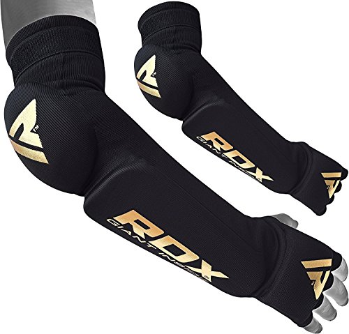 RDX Forearm Guard Hand Wrap Boxing Sleeve Pads MMA Compression Protection Elbow Brace Support