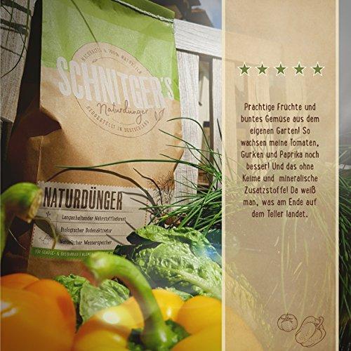 Naturdünger - Universal Pflanzendünger in Bio-Qualität - Langzeitdünger für gesunde Pflanzen und Blumen - Dünger von SCHNITGER's (10kg) - 4