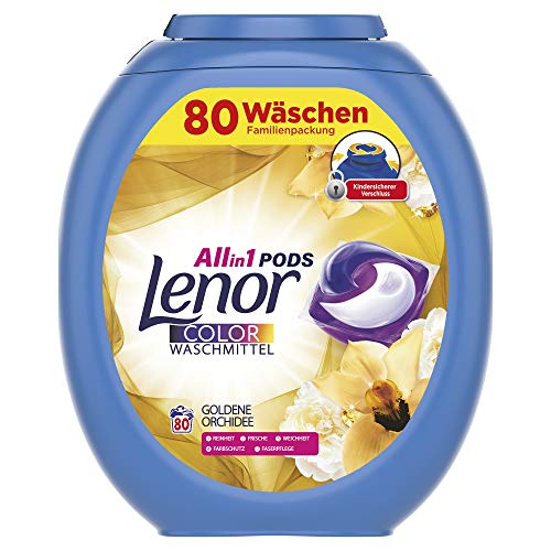 Lenor All-in-1 PODS Waschmittel Goldene Orchidee, 80Waschladungen