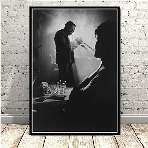 Lienzo Pintura Miles Davis Cartel Bueno de Arte Blue Album de Jazz Cartel de la música Pintura Carteles e Impresiones Cuadro de la Pared Decoración del hogar Pinturas