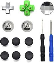 TOMSIN Metal Magnetic Thumbsticks Analog Joysticks for PS4 Pro/PS4 Slim Controller, Phillips Cross Screwdrivers Replacement Repair Kit for Playstation 4 DualShock 4 Controller (11 in 1)