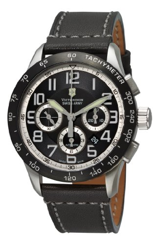 Victorinox Swiss Army Men's 241447 AirBoss Mach 6 Mechanical Black Chronograph Dial Watch