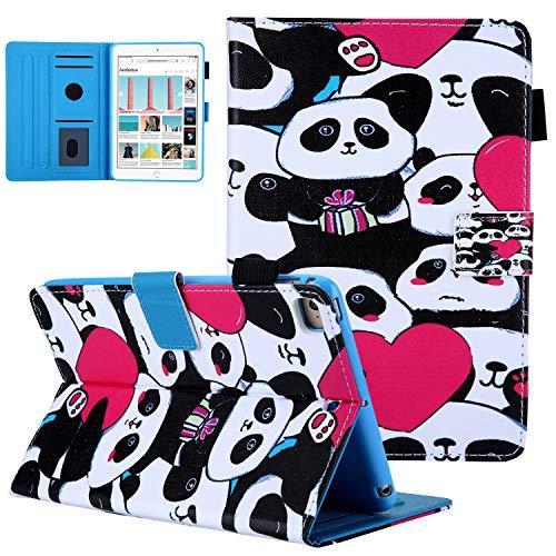 Case for iPad Mini 5th Generation 2019/ iPad Mini 4 3 2 1 (7.9 inch), UGOcase Ultra Slim PU Leather Cards Holder Smart Folio Stand Cover with Auto Sleep/Wake for iPad Mini 7.9', Love Pandas