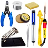 ULTIUM 8 In 1 Soldering Iron Kit Set with Desoldering Pump, Electric 25W Soldering Iron and All...